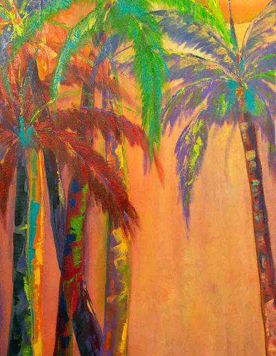 Palms at Sunset | 18x36